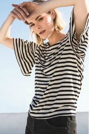 z supply Striped Ruffle Tee - Other
