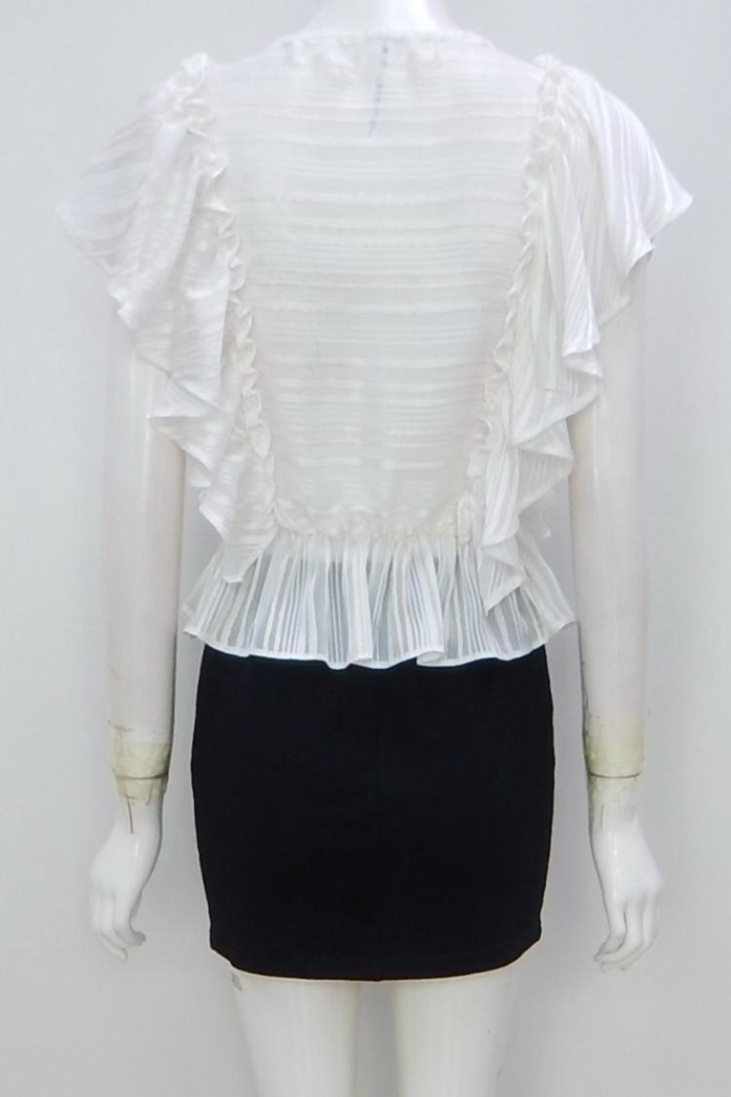 Indikah Striped Ruffle Top - Front Full Image