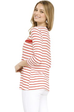 Ninexis Striped Ruffle Top - Alternate List Image
