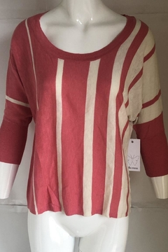 Ella Moss Striped Scoop-Neck Sweater - Alternate List Image