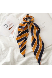 The Birds Nest STRIPED SCRUNCHIE SCARF - Product Mini Image