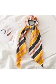 The Birds Nest STRIPED SCRUNCHIE SCARF - Front cropped