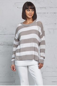Planet Striped Seed Stitch Top - Product List Image