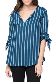 Misia Striped Self-Tie-Sleeve Top - Product Mini Image
