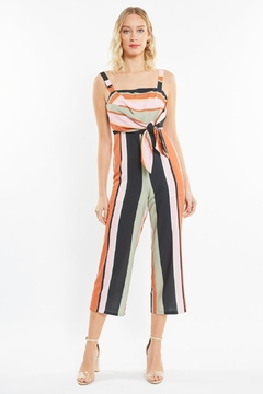 4SI3NNA Striped Shane Jumpsuit - Product List Image