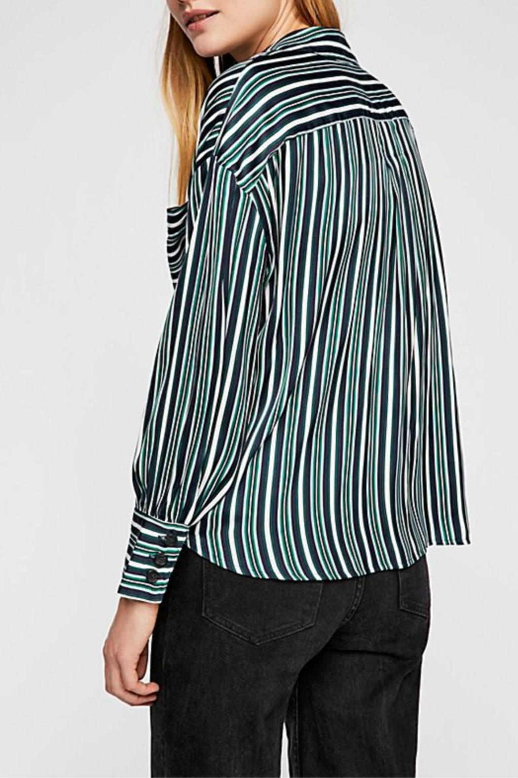 Free People Striped Shirt - Front Full Image