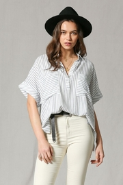 By Together Striped Shirtcollar Top - Product Mini Image