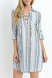 Jodifl Striped Shoelace Tunic/dress - Front cropped