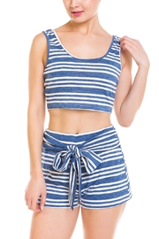 Wild Honey Striped Short Set - Front full body