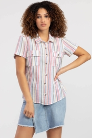 Tribal  STRIPED SHORT-SLEEVE SHIRT - Product Mini Image