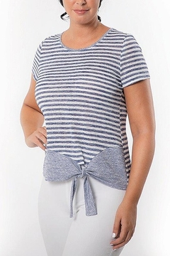Bali Corp. Striped Short Sleeve T-shirt Top - Alternate List Image