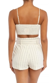 luxxel Striped Shorts Set - Front full body