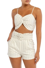 luxxel Striped Shorts Set - Front cropped