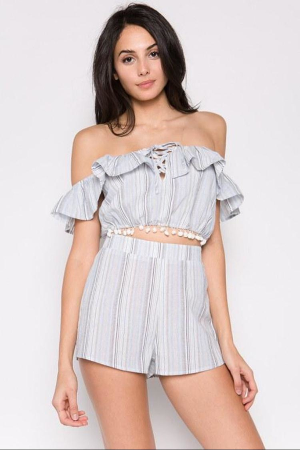 lunik Striped Shorts Set - Main Image