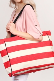 Riah Fashion Striped Shoulder Bag - Front full body
