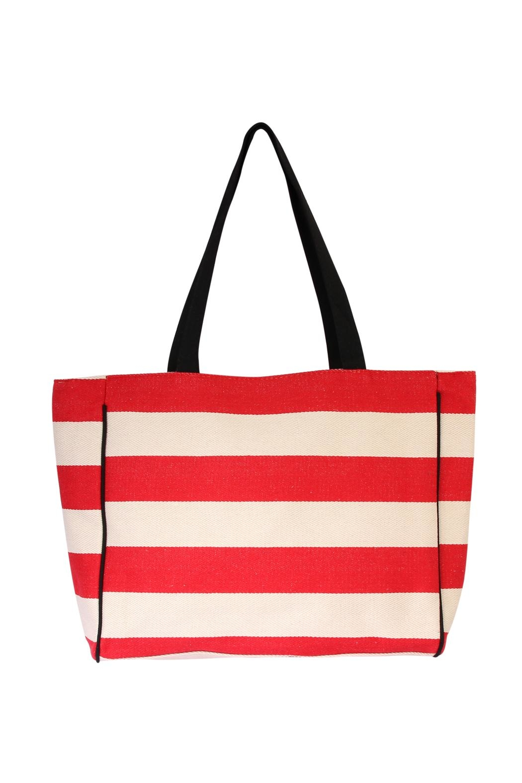 Riah Fashion Striped Shoulder Bag - Front Cropped Image