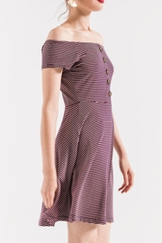 Others Follow  Striped Skater Dress - Side cropped