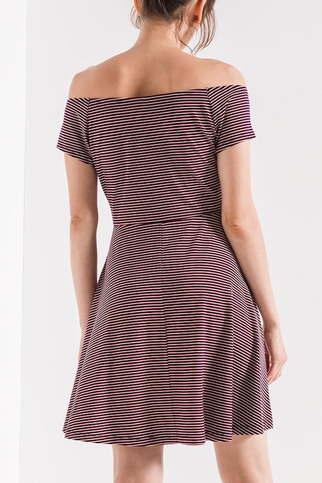 Others Follow  Striped Skater Dress - Front Full Image