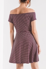 Others Follow  Striped Skater Dress - Front full body