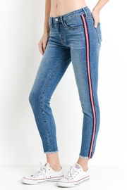 just black Striped Skinny Jeans - Product Mini Image