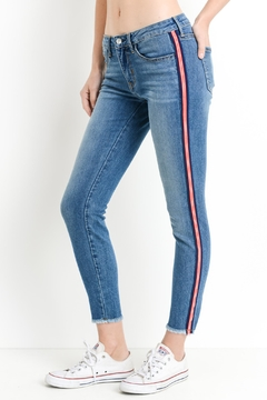 just black Striped Skinny Jeans - Product List Image