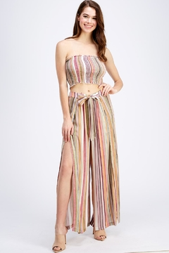 Shoptiques Product: Striped Skirt Set