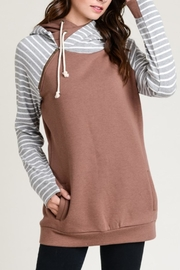vanilla bay Striped Sleeve Pullover - Product Mini Image