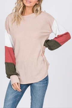 7th Ray Striped Sleeve Top - Product List Image