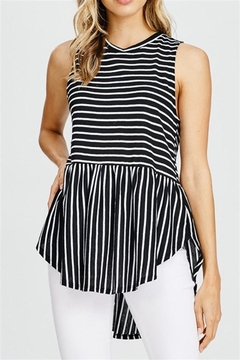 Shoptiques Product: Striped Sleeveless Top