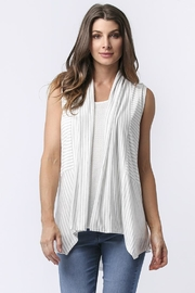 Sinuous Striped Sleeveless Vest - Front full body