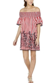 Joy Joy Striped Smock Dress - Product Mini Image