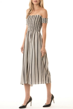 Shoptiques Product: Striped Smock Jumpsuit