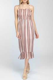 ALB Anchorage Striped Smocked Midi-Dress - Product Mini Image