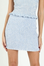 Wild Honey Striped Smocked Mini Skirt - Product Mini Image