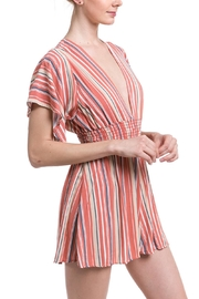 Final Touch Striped Smocked Romper - Front full body
