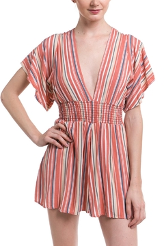Final Touch Striped Smocked Romper - Product List Image