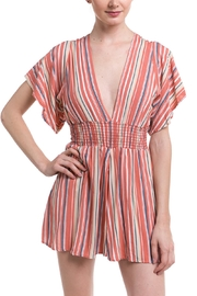 Final Touch Striped Smocked Romper - Product Mini Image