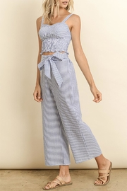 dress forum Striped Smocked Top - Front full body