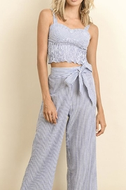 dress forum Striped Smocked Top - Front cropped