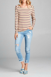 Paper Crane Striped Square Neck Top - Product Mini Image