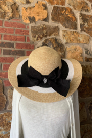Giftcraft Inc.  Striped Straw Hat - Product Mini Image