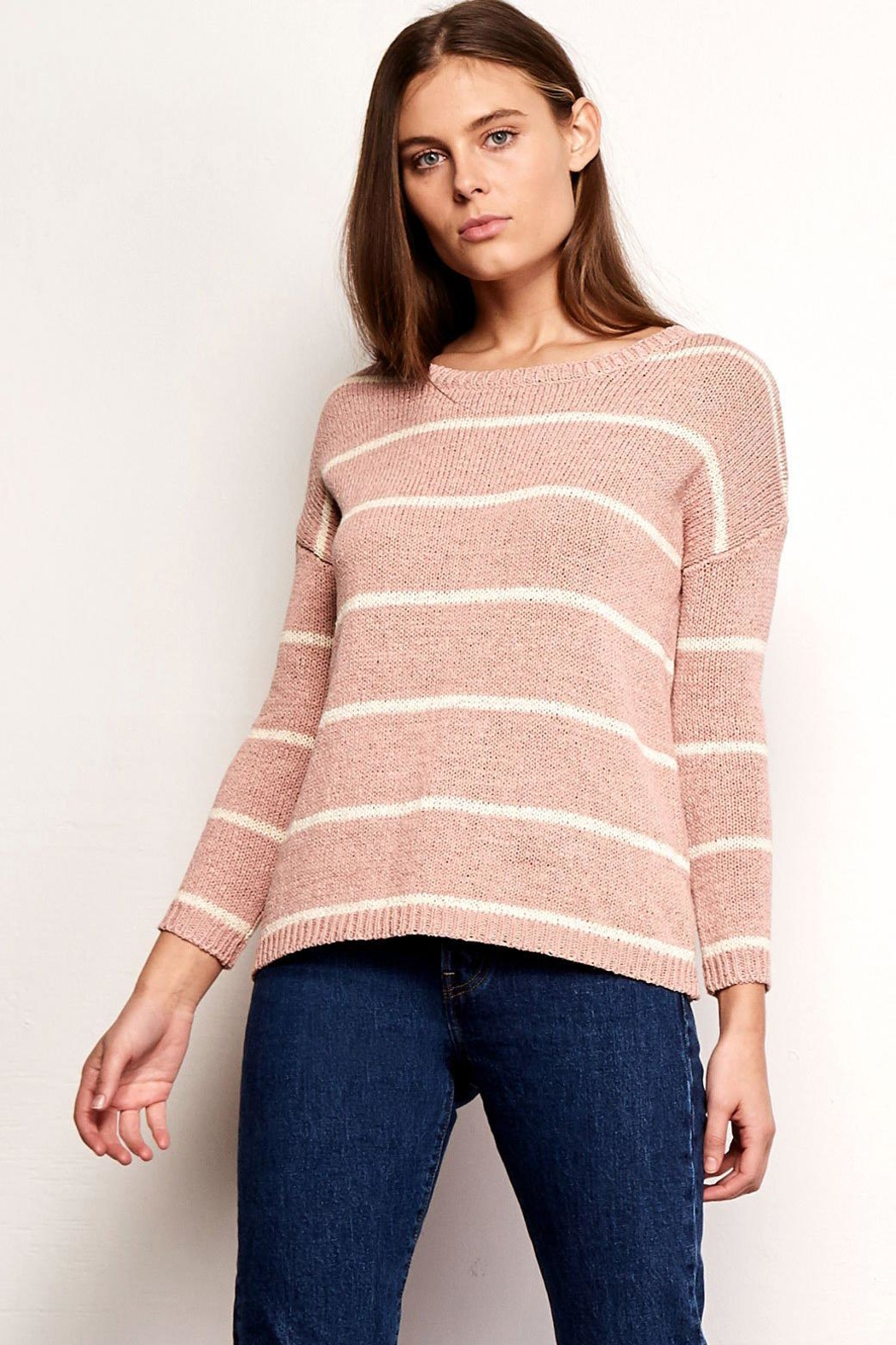BB Dakota Striped Summer Sweater - Main Image
