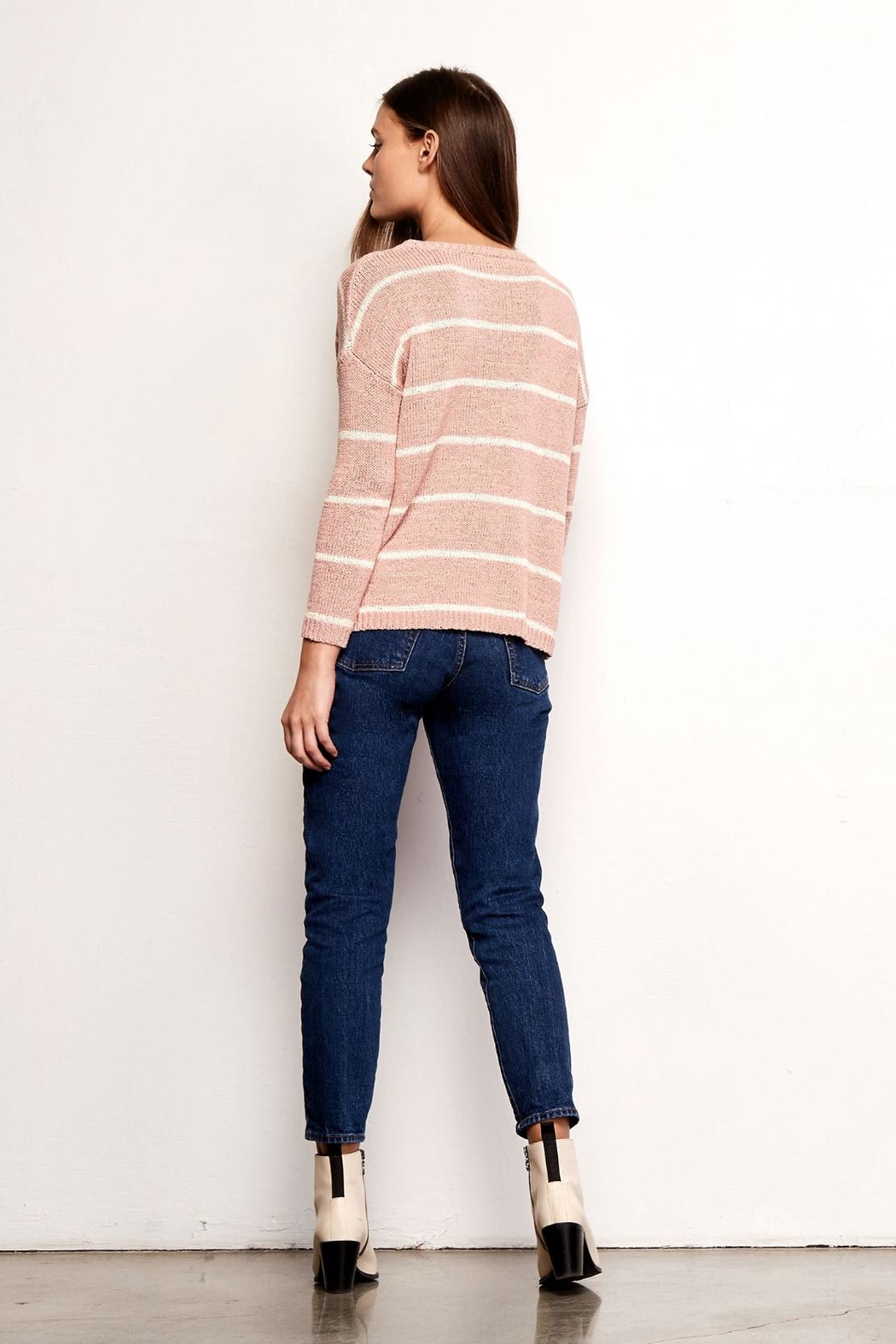 BB Dakota Striped Summer Sweater - Front Full Image