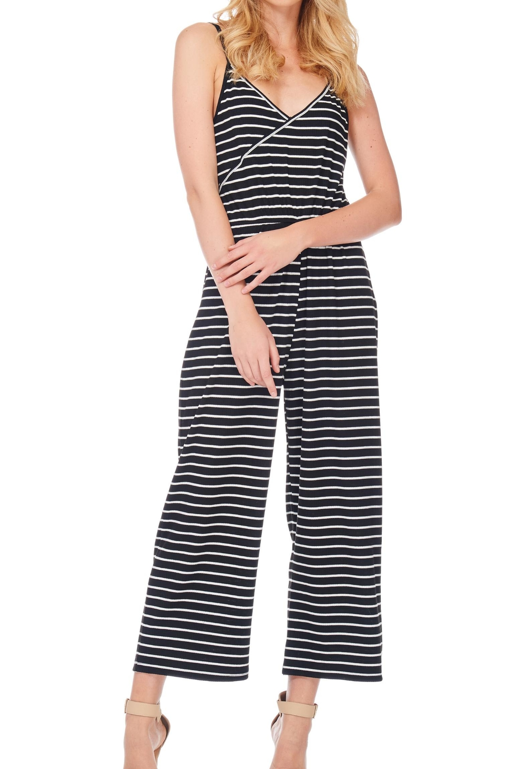 Anama Striped Surplice Romper - Main Image