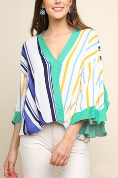 42f2387787 ... Umgee USA Striped Surplice Top - Product List Placeholder Image