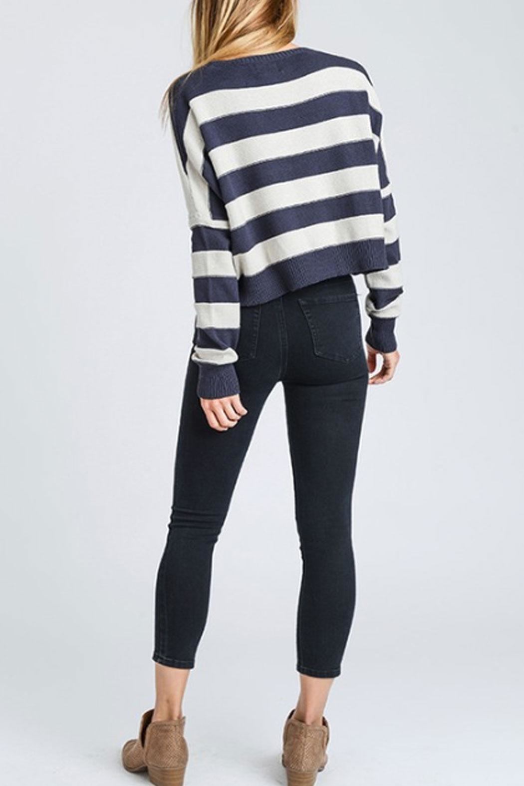 storia Striped Sweater - Back Cropped Image