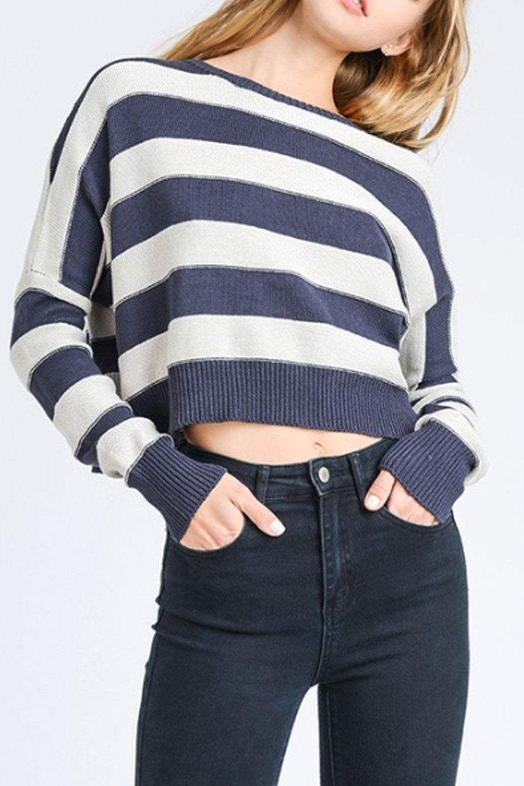 storia Striped Sweater - Side Cropped Image