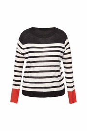 Black Tape Striped Sweater - Product Mini Image