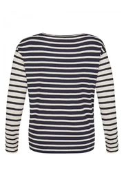 Via Appia Striped Sweater - Front full body