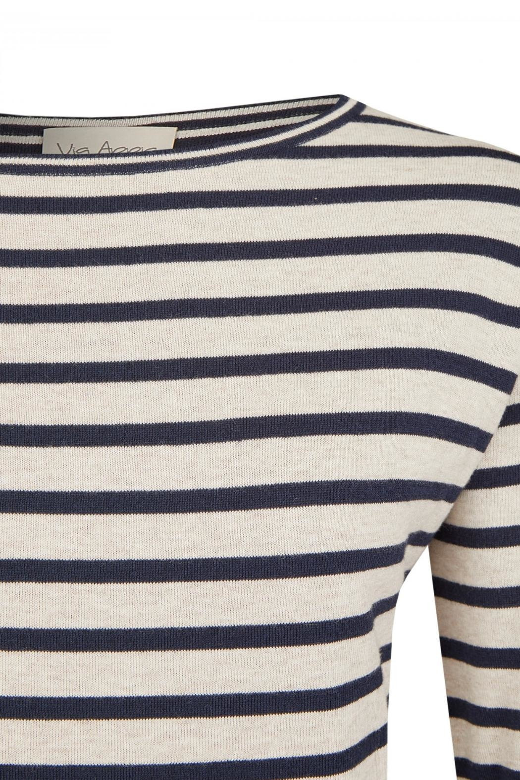 Via Appia Striped Sweater - Side Cropped Image